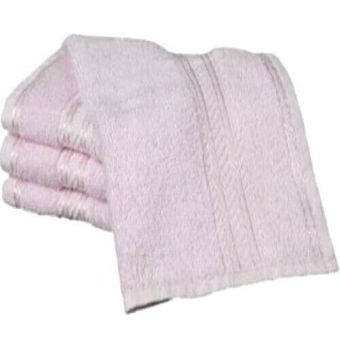 Plain Cotton Basic Soft Face Cloth Flannel - Pink - Twin pack